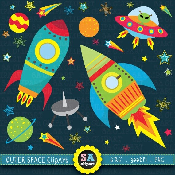 Outer space clipart outer space clip art pack spaceship for Outer space studios