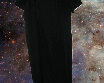 plus size silk dress black maxi minimalist 34 5x 6x extra large xl