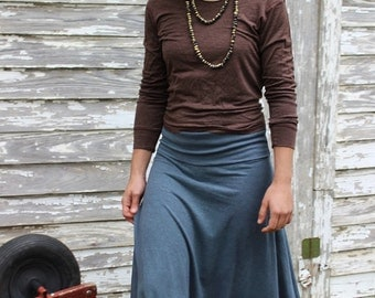 Long Harvest Skirt / Organic Cotton and Hemp