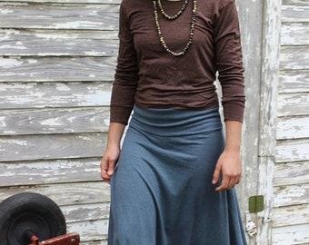 Long Harvest Skirt / Organic Cotton and Hemp