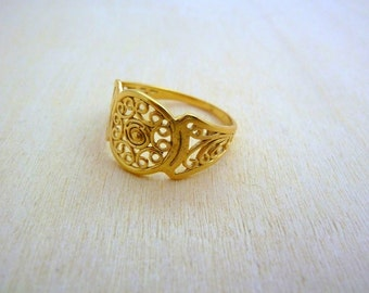 Filigree ring GOLD Filled ,floral ring, gold jewelry, best gifts for women