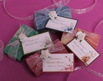 "Organic Handmade ""Peaceful Moment"" Soap Favors (Set of 20)"