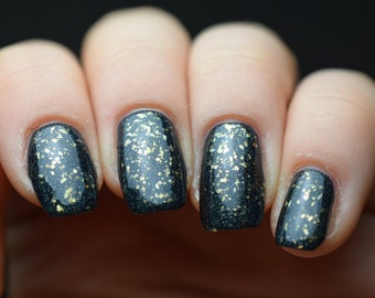 Open The Gate - Tiny Gold Flake Top Coat, Indie Nail Polish (12ml)