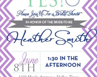 Modern Chevron Bridal Shower Invitation