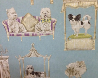 Pampered Dogs - Home Decor Fabric - Fabric By The Yard - Fun Fabric