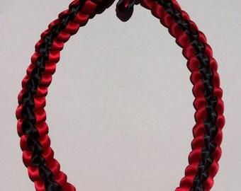 Scarlet Rebel Braided Ribbon Lei
