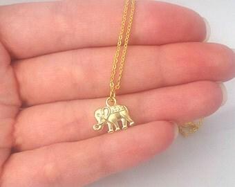 Delicate Necklace, Elephant Necklace