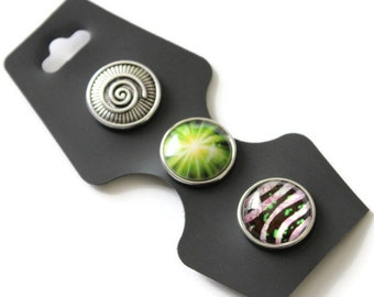 25% OFF SNAP buttons lime - chunk buttons - interchangeable jewelry