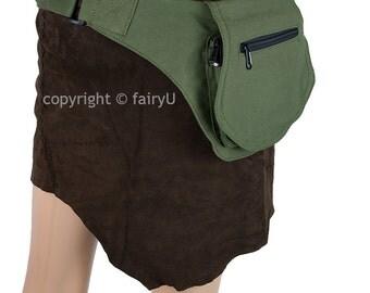 Fabric (cotton) pocket belt, waist bag one pocket - Askefrue (0003)