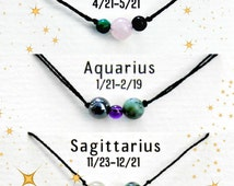 Zodiac Healing Crystals/Stones String Bracelet