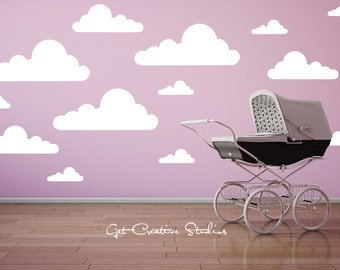 Cloud Decal Wall Stickers Cloud Wall Decals Cloud Stickers Cloud Wall Art Nursery Clouds Baby Room Clouds Nursery Wall Clouds White Clouds