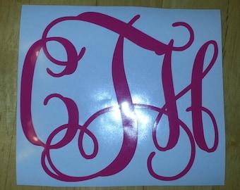 "5"" Vinyl Monogram Sticker"