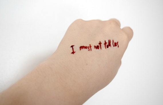 Potter temporary tattoo geek fandom i must not tell by for I must not tell lies tattoo