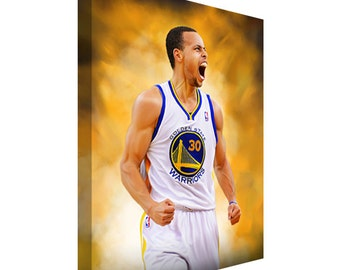 Free Shipping Golden State Warriors Stephen Curry Canvas