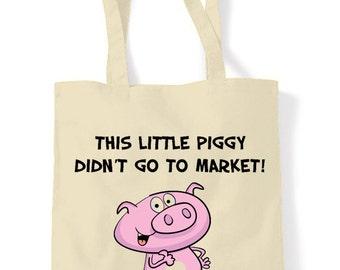 Vegetarian Piggy Market Shopping Bag