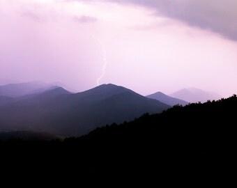 Lightening Strike on Blue Ridge