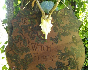 Witch's Forest / / Interior design witch, Halloween sign