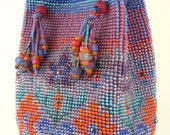 "Caprice Bead Crochet Purse instant download PDF pattern, 6"" h x 4"" d, full color charts, graphics, photos, link to free video tutorial"