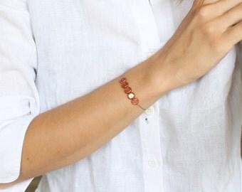 Friendship bracelet/ dainty bracelet/ silk cord bracelet/ effortless chic bracelet/ birthday bracelet