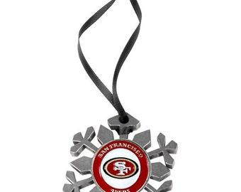 San Francisco 49ers Snowflake Christmas Ornament