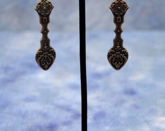 Long Bronze Earrings