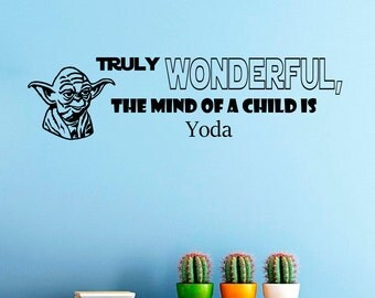 Wall Decals Yoda Star Wars Quote Decal Truly Wanderful Sayings Sticker Vinyl Decals Wall Decor Murals Z301