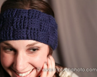 Basketweave Earwarmer Crochet Pattern