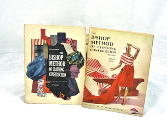 The Bishop Method of Clothing Construction Revised (1966 2nd Edition) by Bishop and ArchInstructional Sewing Book Basic  Made in USA