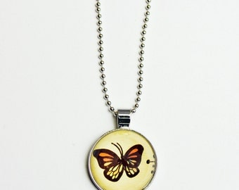 butterfly necklace, glass butterfly charms, monarch jewelry, monarch butterflies, gifts for butterfly lovers, jewellry, tween girl jewelry