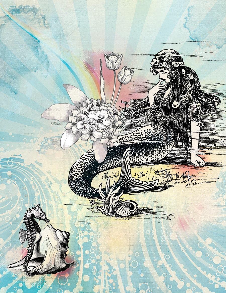 Mermaid La Luxure Art Print