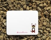 Chihuahua personalized stationery - Dog notes