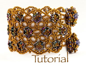 Beaded Bracelet Pattern with O Beads Rosemoor Lace Bracelet Digital Download