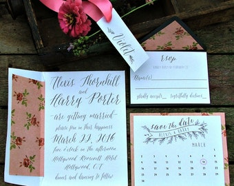 Modern Gray Wedding Invitation |  Simple & Romantic