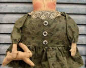 Hazel Hare EPATTERN...primitive country easter spring rabbit cloth doll craft digital download sewing pattern...PDF...1.99