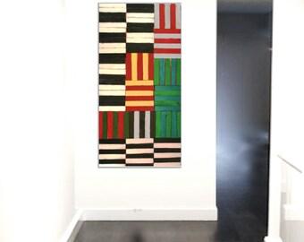Geometric Wall Art | Abstract Art | Custom Art | Wood Wall Decor | 3D Wall Art | Wall Sculpture | Rosemary Pierce Modern Art