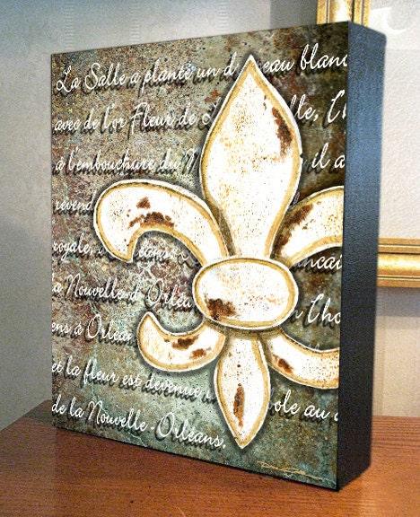 Fleur de lis wall decor fleur de lis orl ans for Fleur de lis wall art