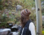 Knit Slouchy Wool Hat / THE TETLIN / Bramble