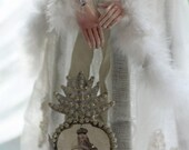 sweetly blessed - a silver ex-voto paper locket