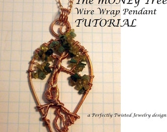 TUTORIAL, The Money Tree! Wire Wrapped Pendant, DIY, Wire Jewelry Pattern, Wire Wrap Tree of Life Pendant, Wire Wrapping Jewelry Tutorial