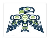 Native American-inspired Seahawk Print