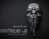 Cthulhu Fridge Magnet v2 - Silver - Lovecraft inspired Tentacle Magnet - Fridgethulhu - Refrigerator