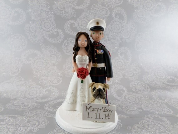 wedding cake toppers army groom personalized amp groom wedding cake topper 26380