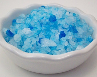 Bath Salts with Muscle Bliss Essential Oil Blend - 11 Ounces of Blue Bath Crystals