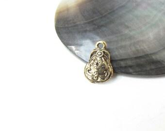 Antique Gold  Purse Charms Necklace Bracelet Pin Purse Woman Charm 5 charms #169
