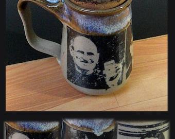 Steve Jobs Stoneware Mug With Natural Bark Cork