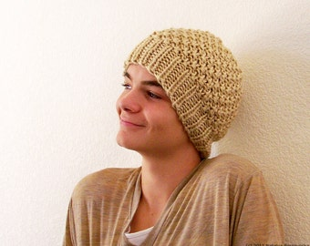 Knitting Pattern, Knit Hat Pattern, Mens Hat Pattern, Chunky Knit Hat, Slouchy Hat Patterns, Slouchy Beanie Pattern, Knit Beanie Mens Beanie