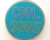 Cool Beans - Wall Embroidery Hoop