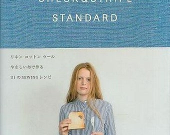 Check & Stripe Standard - Japanese Sewing Pattern Book for Women and Children Clothing, Sewing Tutorial, Simple Skirt, Pants, Bag, B277
