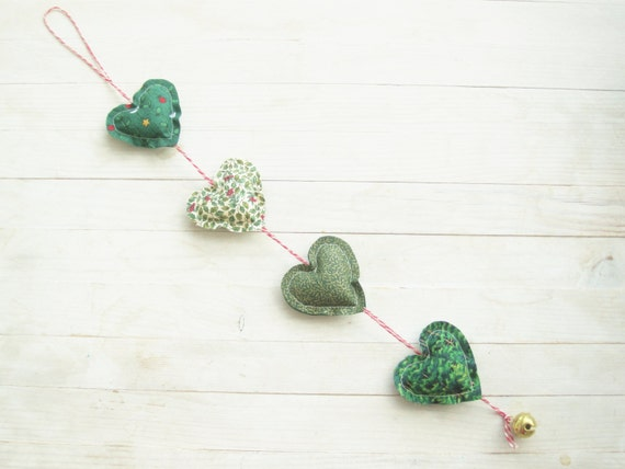 Green heart garland