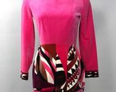 EMILIO PUCCI Vintage Pink Jumpsuit Cotton Velvet Hot Pants Onesie - AUTHENTIC -